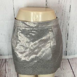 Women's Express mini skirt silver